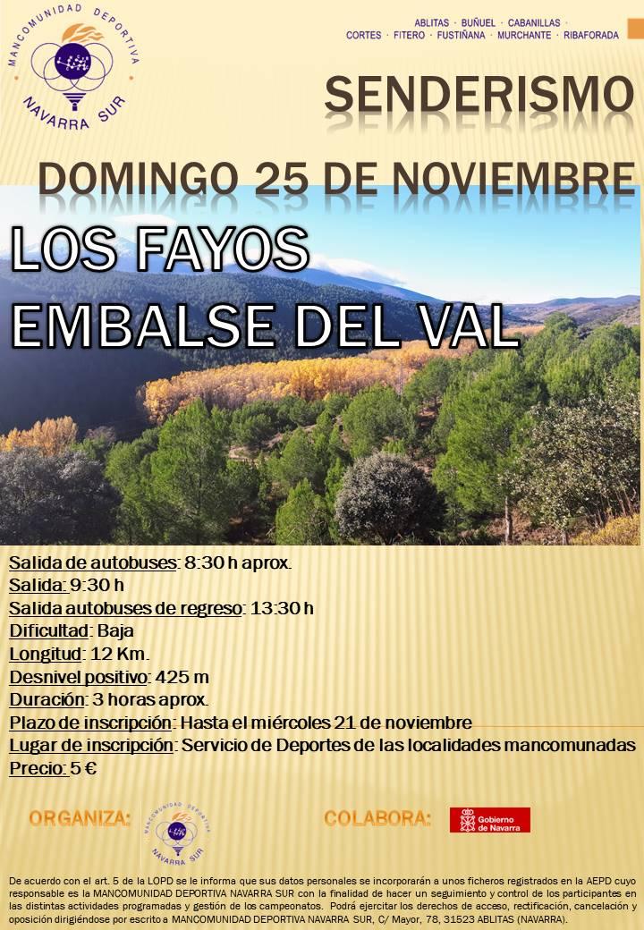 CARTEL SENDERISMO LOS FAYOS GENERAL