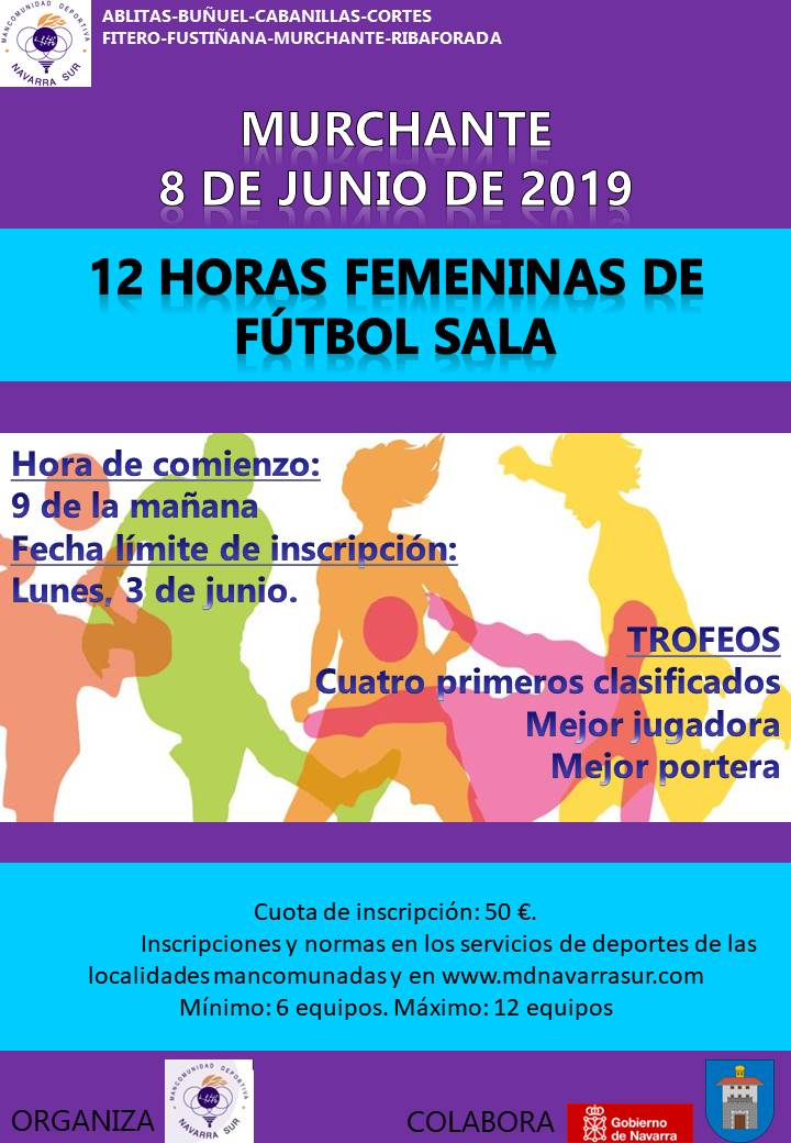 cartel 12 horas femeninas 2019